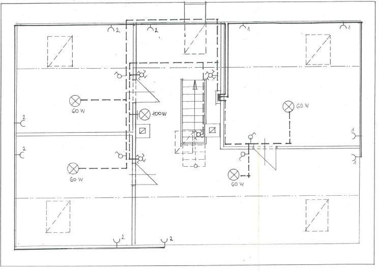 Domovní elektroinstalace schéma