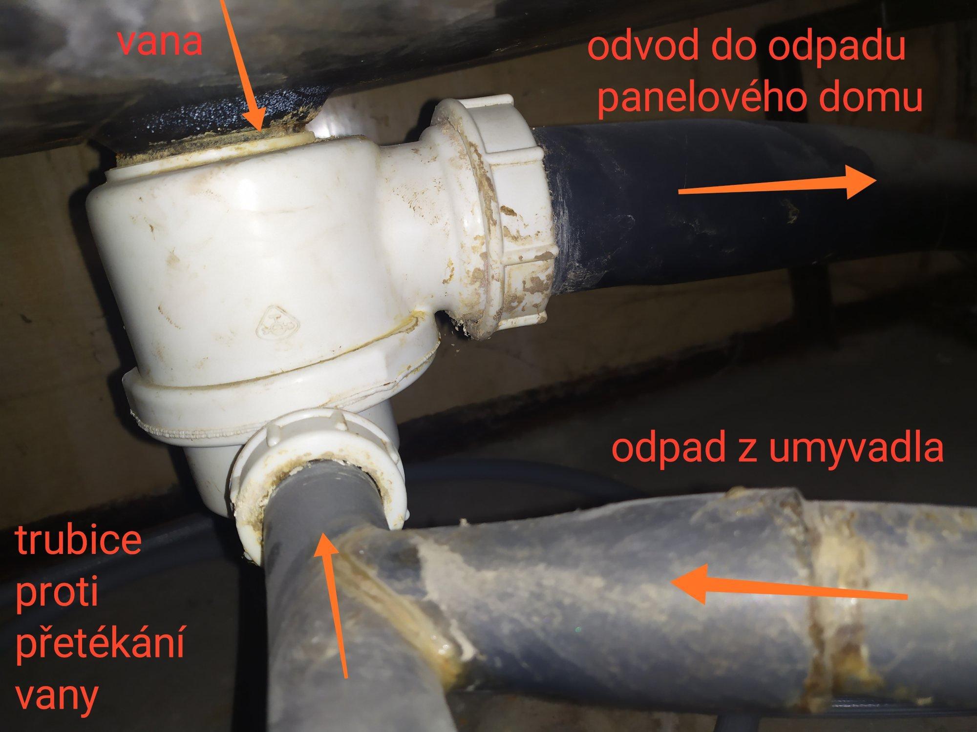 Připojení k odtoku vany